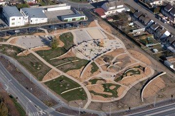 Fagnières - Parc des Tilleuls en travaux